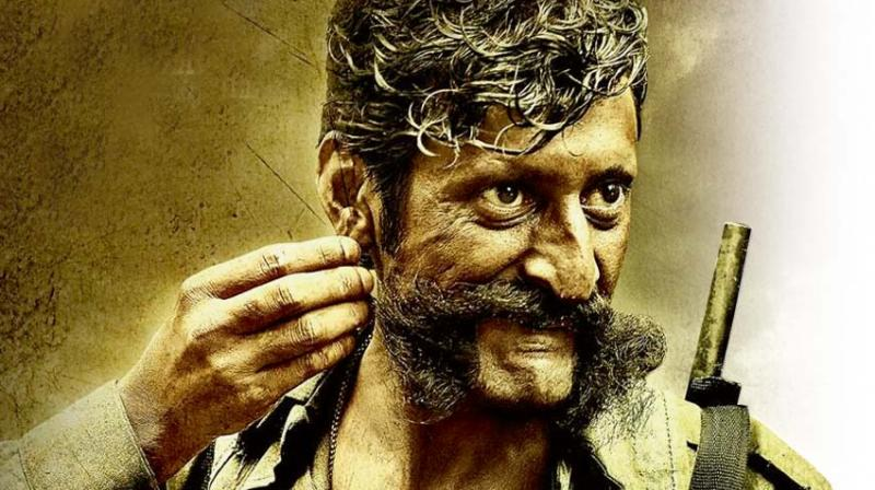 A still from the movie Veerappan