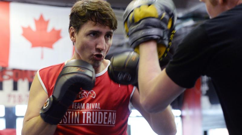 Justin Trudeau slips from political ring to boxing ring