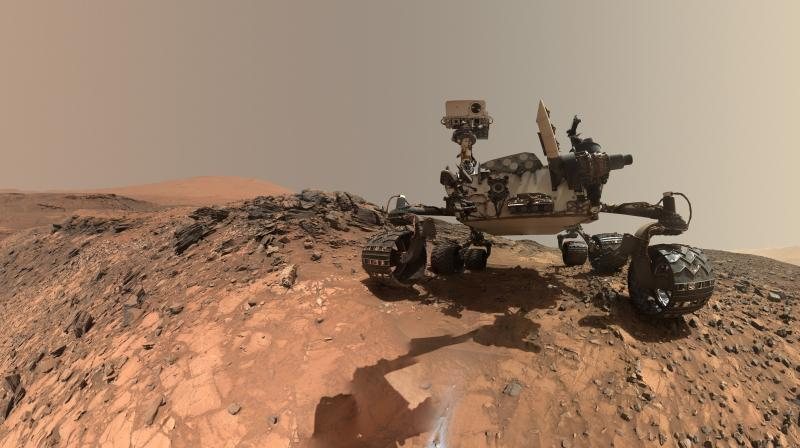 Analysing data from an X-ray diffraction instrument on the rover that identifies minerals, scientists detected significant amounts of a silica mineral called tridymite. (Photo: NASA)