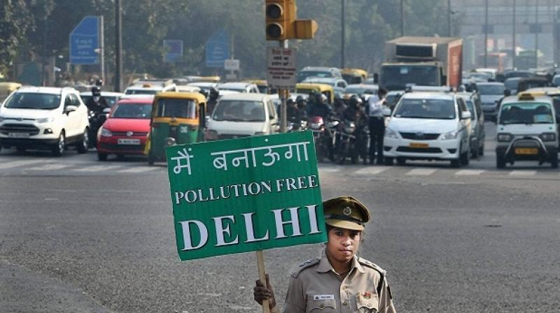 Delhi Pollution Control Committee (DPCC) has been asked to submit its report on pollution level from April 6 to May 6 so that government could get to know about the levels of pollution before and after the scheme (Photo: PTI)