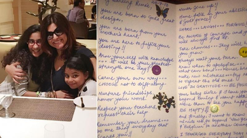 this endearing note from sushmita sen to her daughter renee will