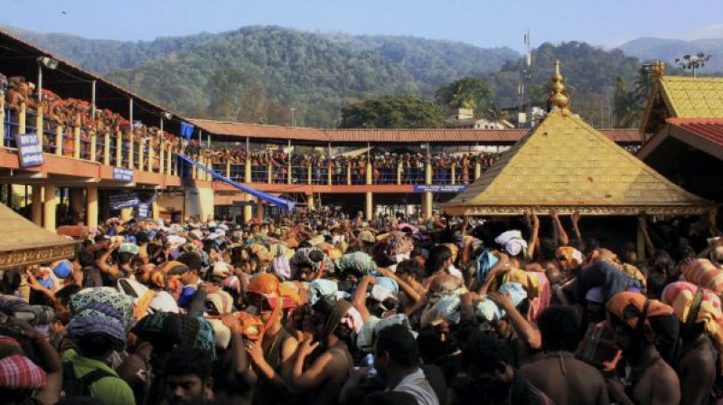 Counsel V K Biju argued that the policy not to allow women between the age of 10 and 50 is reflected in the rituals and practices of the temple. (Photo: File)