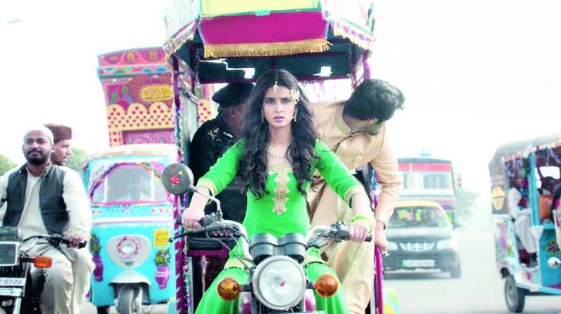A still from the movie Happy Bhag Jayegi