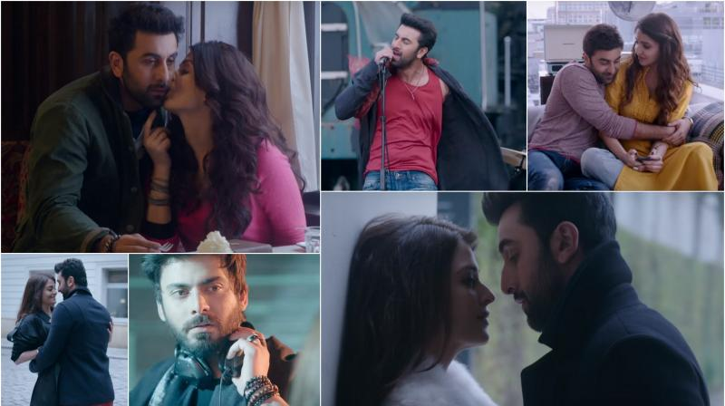 Screengrabs from the song video.