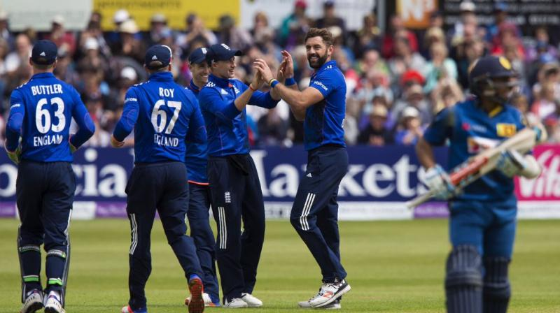 Rain may have cut short Sunday's third one-day international between England and Sri Lanka but for Liam Plunkett there was the satisfaction of taking his 50th wicket at this level — more than a decade after his first. (Photo: Twitter)