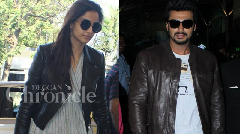 Sonam Kapoor and Arjun Kapoor were spotted at the Mumbai airport on Thursday. Photo: Viral Bhayani
