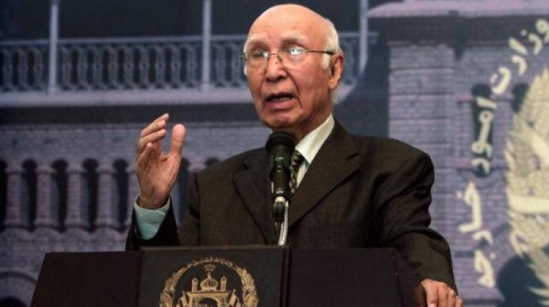 Pakistan Prime Minister's Foreign Affairs Advisor Sartaj Aziz. (Photo: PTI/File)