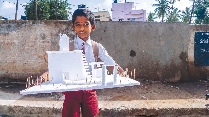 A schoolboy in Bengaluru