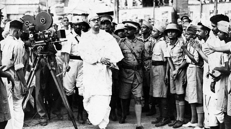 Tumultuous times: Bose arriving at the 1939 annual meet of the Congress, where he was re-elected as president. He later resigned due to constant clashes with Gandhi and the party's High Command — From the personal album of Tony Mitra via Commons license