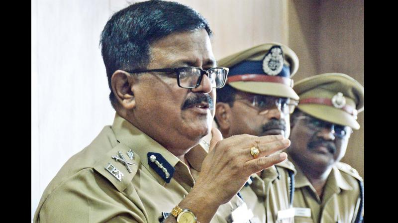 City police commissioner Ashutosh Shukla addresses the media on Thursday. —DC