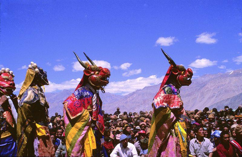 Ladakh dancers in Zanskar during the Tibetan Kalachakra