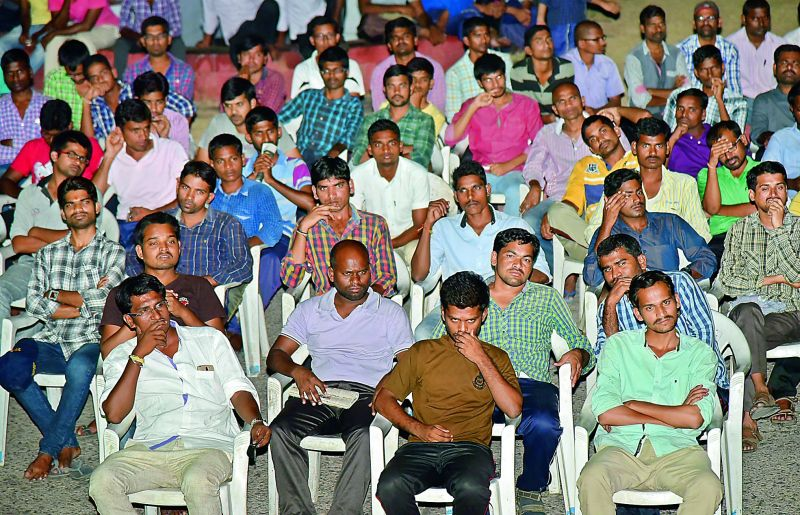 Students during the screening of the movie in the city
