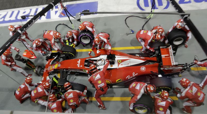 It was a rather disappointing day for Ferrari. (Photo: AP)