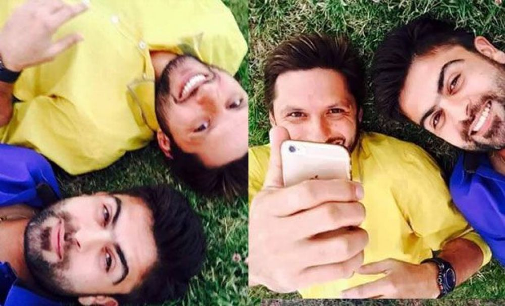 He shares a close bond with Pakistan's T20 skipper and flamboyant cricketer Shahid Afridi. (Photo: Facebook)