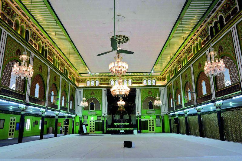 The Alawa-e-Sartauq Mubarak, above, an Ashoorkhana in the Darulshifa complex, and, top, the historic Darulshifa building, that has stood the test of time. (Photo: DC)