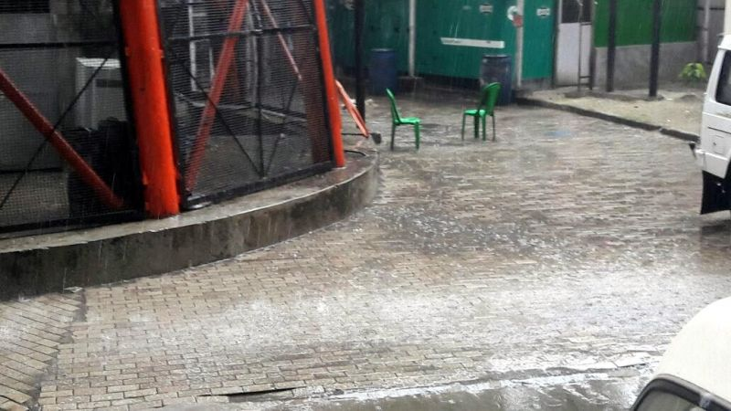 Areas around the stadium were completely wet much to the disappointment of fans. (Photo: Deccan Chronicle)