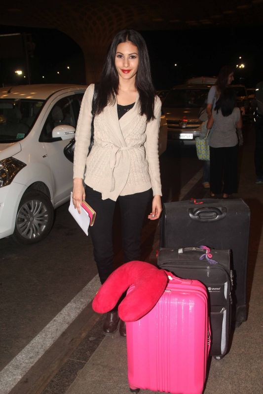 The actress was spotted at Mumbai airport.