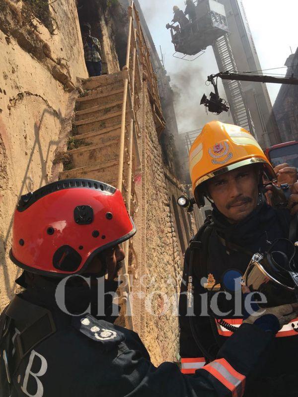 Randeep Hooda prepares to shoot an advertisement for the Mumbai Fire Brigade.
