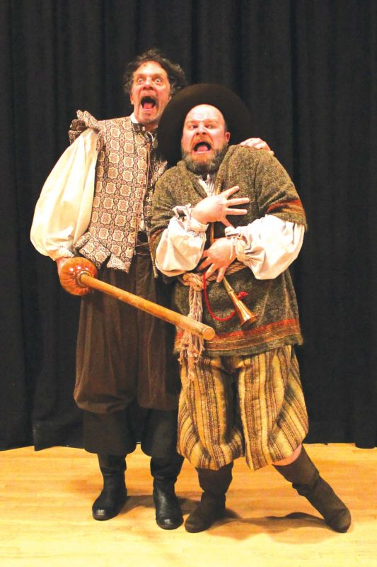 A scene from an international production of Don Quixote
