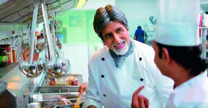 Amitabh Bachchan in a still from Cheeni Kum.